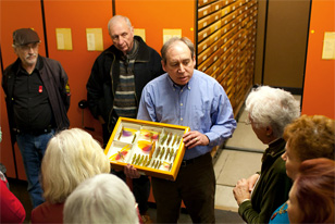 Jason Weintraub gives Entomology Collection tour