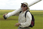 Dr. David Velinsky working in a salt marsh
