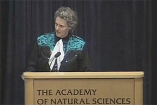 Temple Grandin at the podium
