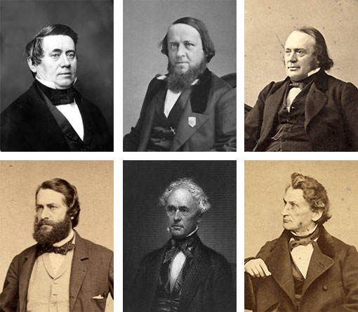 portraits of some of the founders of the AAAS
