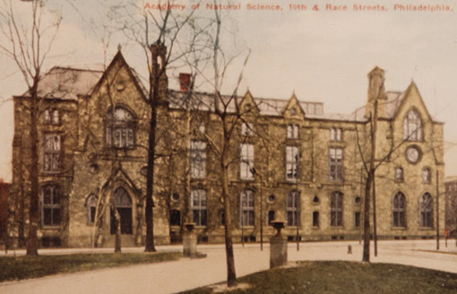 colored photograph of the 1876 building