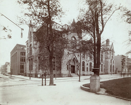 photo of the Academy of Natural Sciences in the late 19th Century