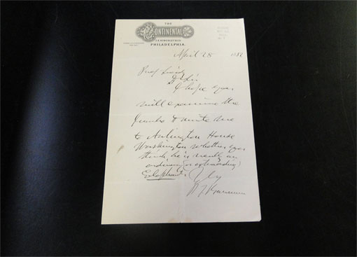 photo of an archival letter