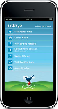 photo of BirdsEye app for the iPhone