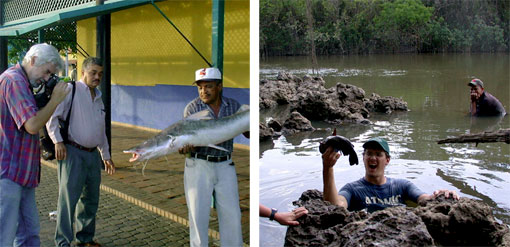photos of ichthyologist Mark Sabaj Perez and John Lundberg