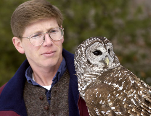 Scott Widensaul with an owl