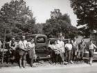 1948 photo of environmental research crew