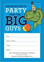 birthday party invite blue