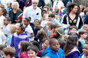 crowd enjoying the 2011 Philadelphia Science Festival