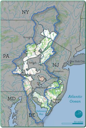 Delaware River Watershed Initiative Research At The Academy Of - Delaware river on us map