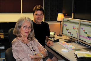 Sound designers Lydia Hunn and John Avarese