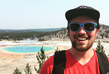 Drexel Biodiversity, Earth and Environmental Science Student Nick Barber in Yellowstone National Park
